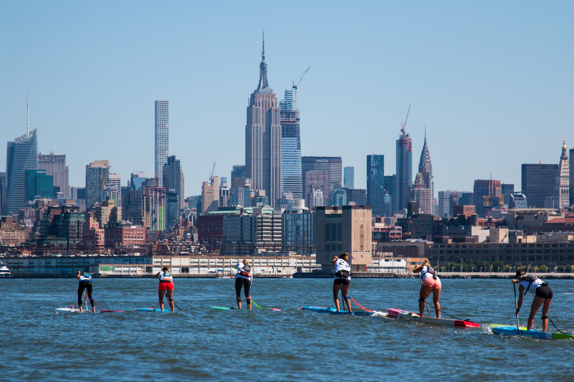 Long distance race at the APP World Tour NY SUP Open