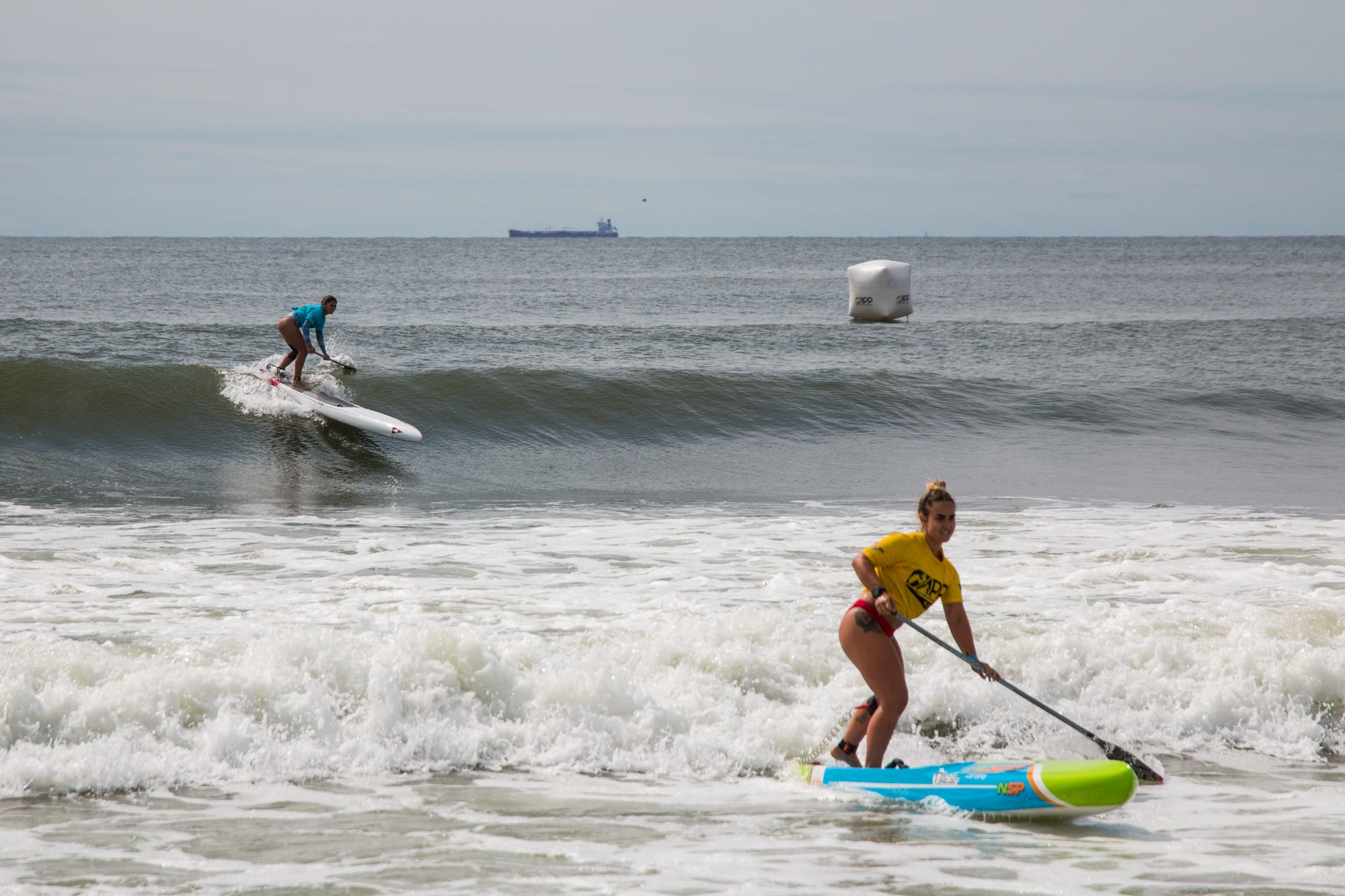 Women's SUP sprint racing at NY Open 2019 APP World Tour