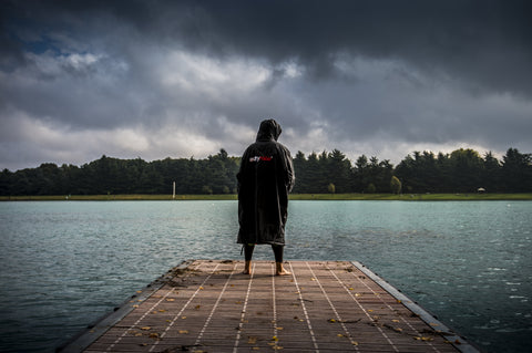 Triathlete Lake Jetty #dryrobe