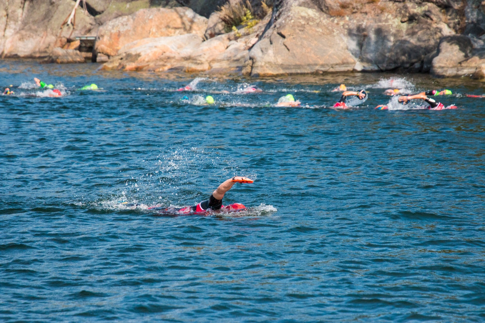 1st swim section of the Final 15, ÖTILLÖ Swimrun World Championship 2019