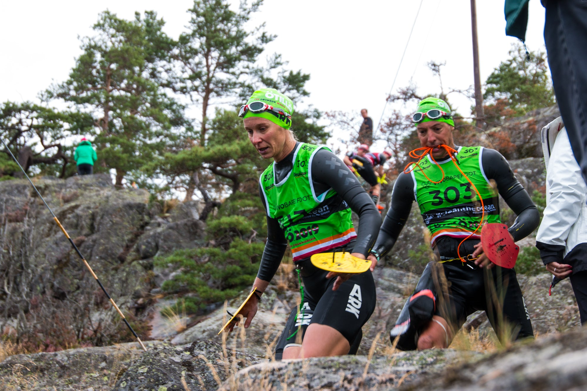 Racers competing at the 2019 ÖTILLÖ Swimrun World Championship
