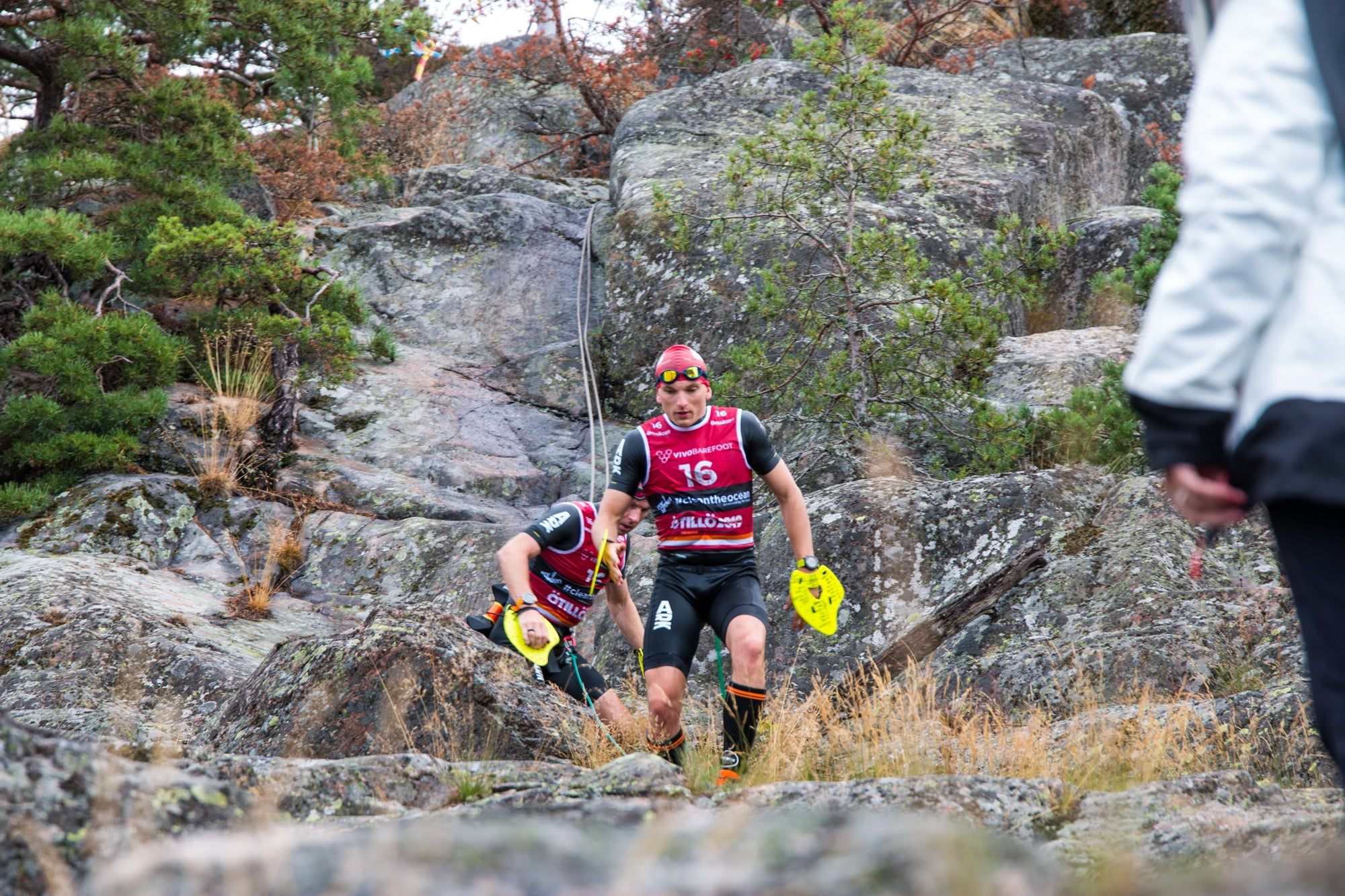 Andy Blow and James Phillips of Precision Hydration - ÖTILLÖ Swimrun World Championship