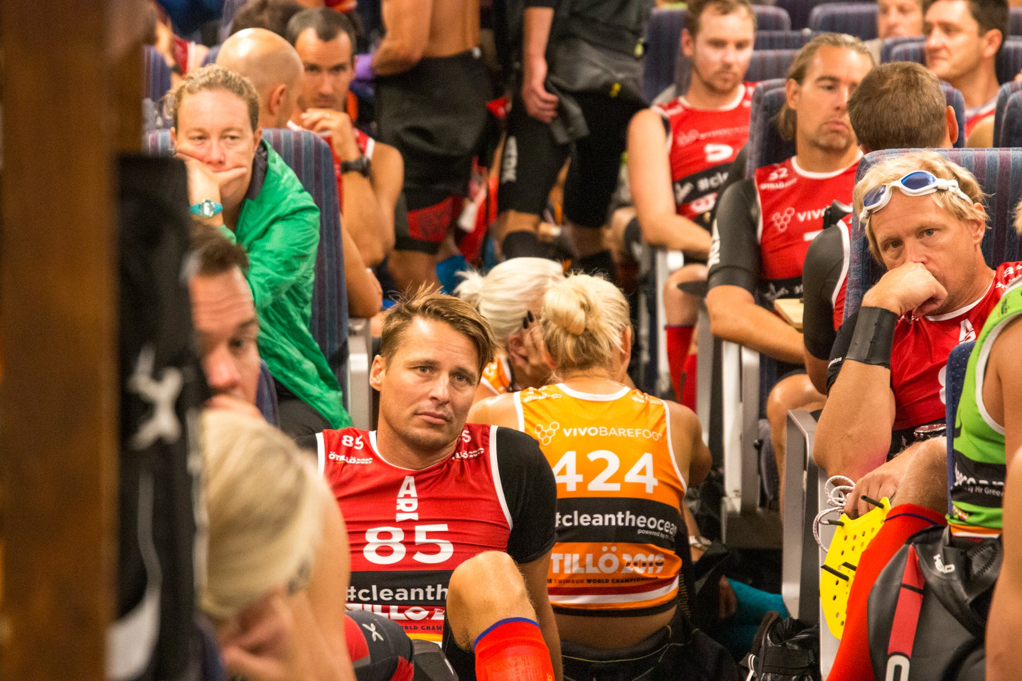 Nervous racers on the ferry - ÖTILLÖ Swimrun World Championship 2019