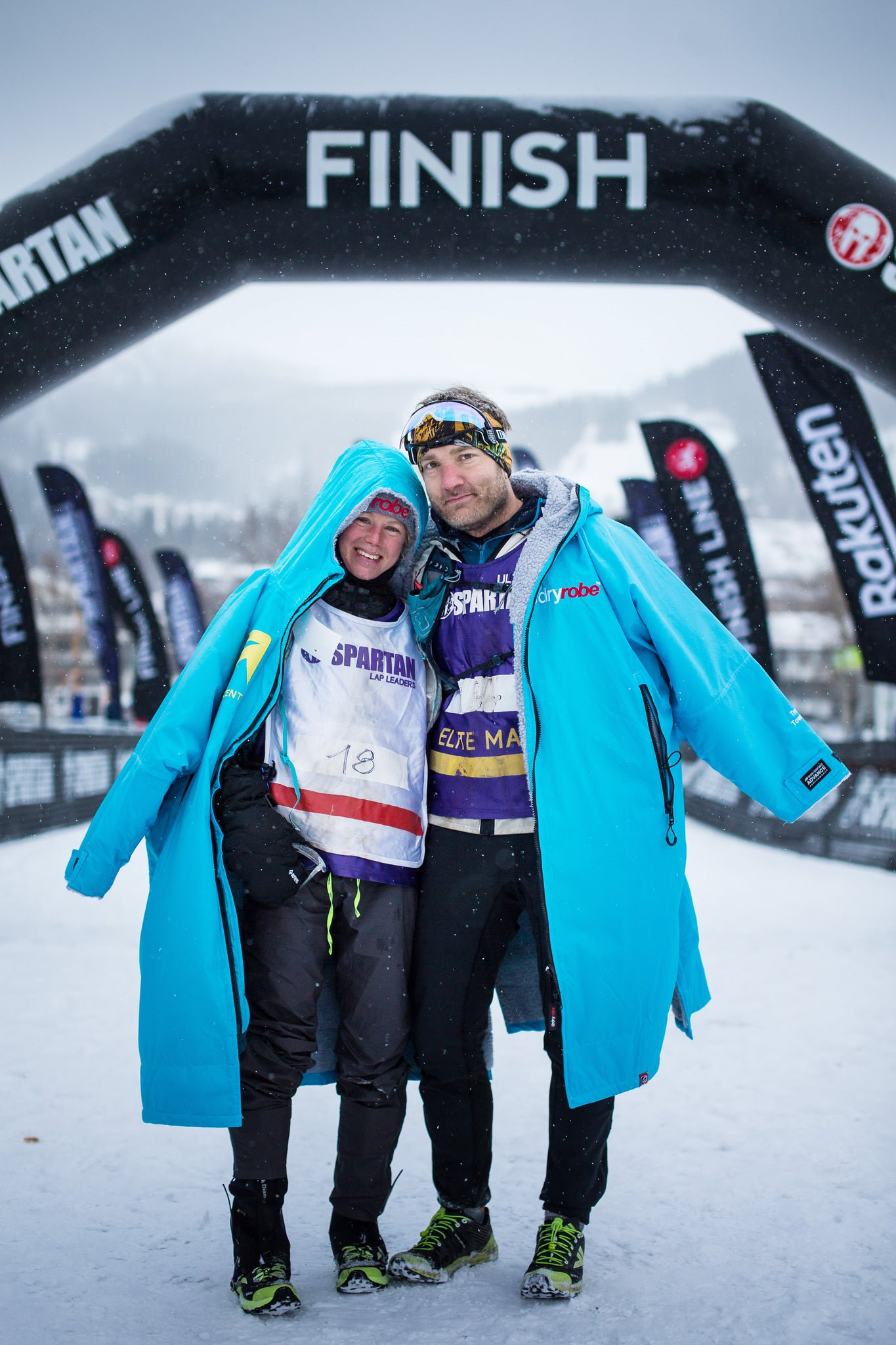 Rea Kolbl and Trevor Townsend, Spartan Ultra WC - Photo by James Appleton