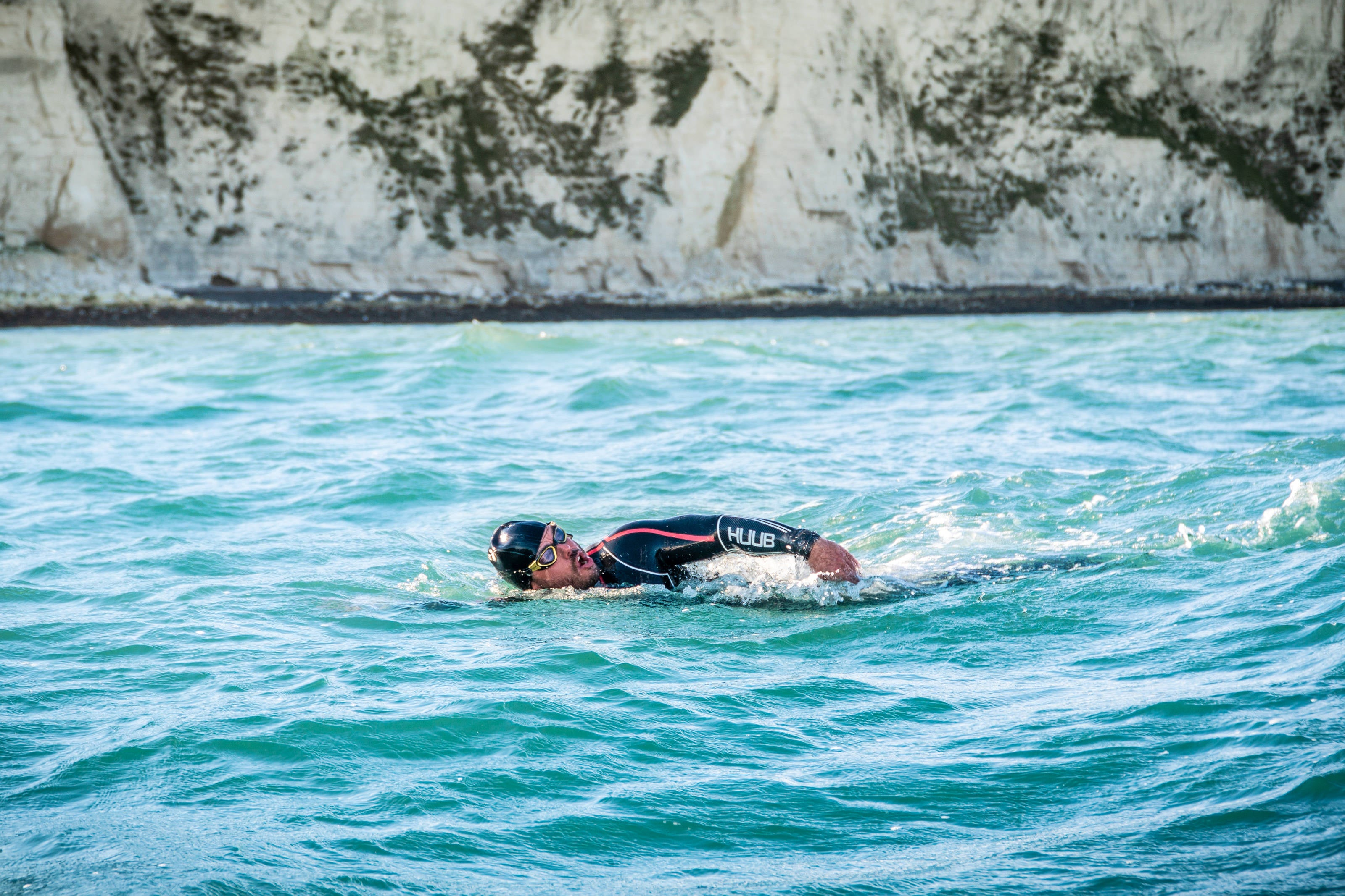 Ross Edgley: Great British Swim. Photo courtesy of Red Bull Media Pool