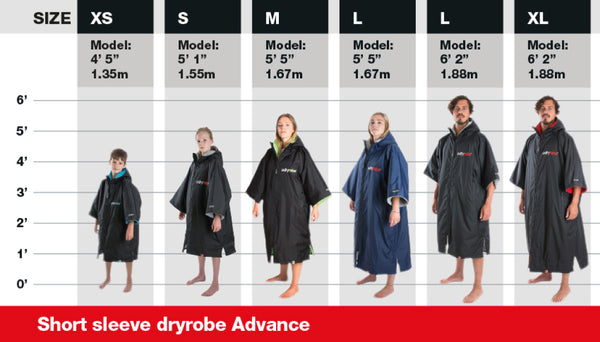 dryrobe models size guide