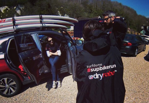 supbikerunExperience Day, dryrobe #SUP and #bike transition #supbikerun #standuppaddle