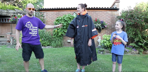 dryrobe, change, challenge, Great, Ormond, Street, Hospital, charity