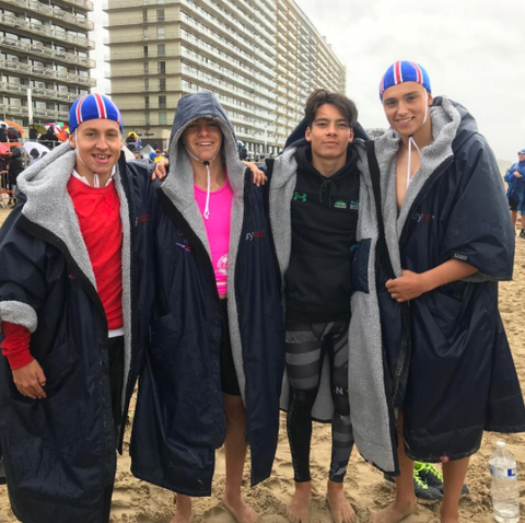 dryrobe, dryrobeterritory, surf, lifesaving, team, GB, european, championships