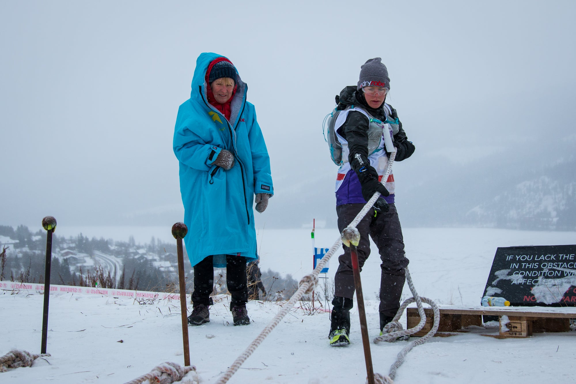 Rea Kolbl and her mom at Spartan Ultra World Championships 2019