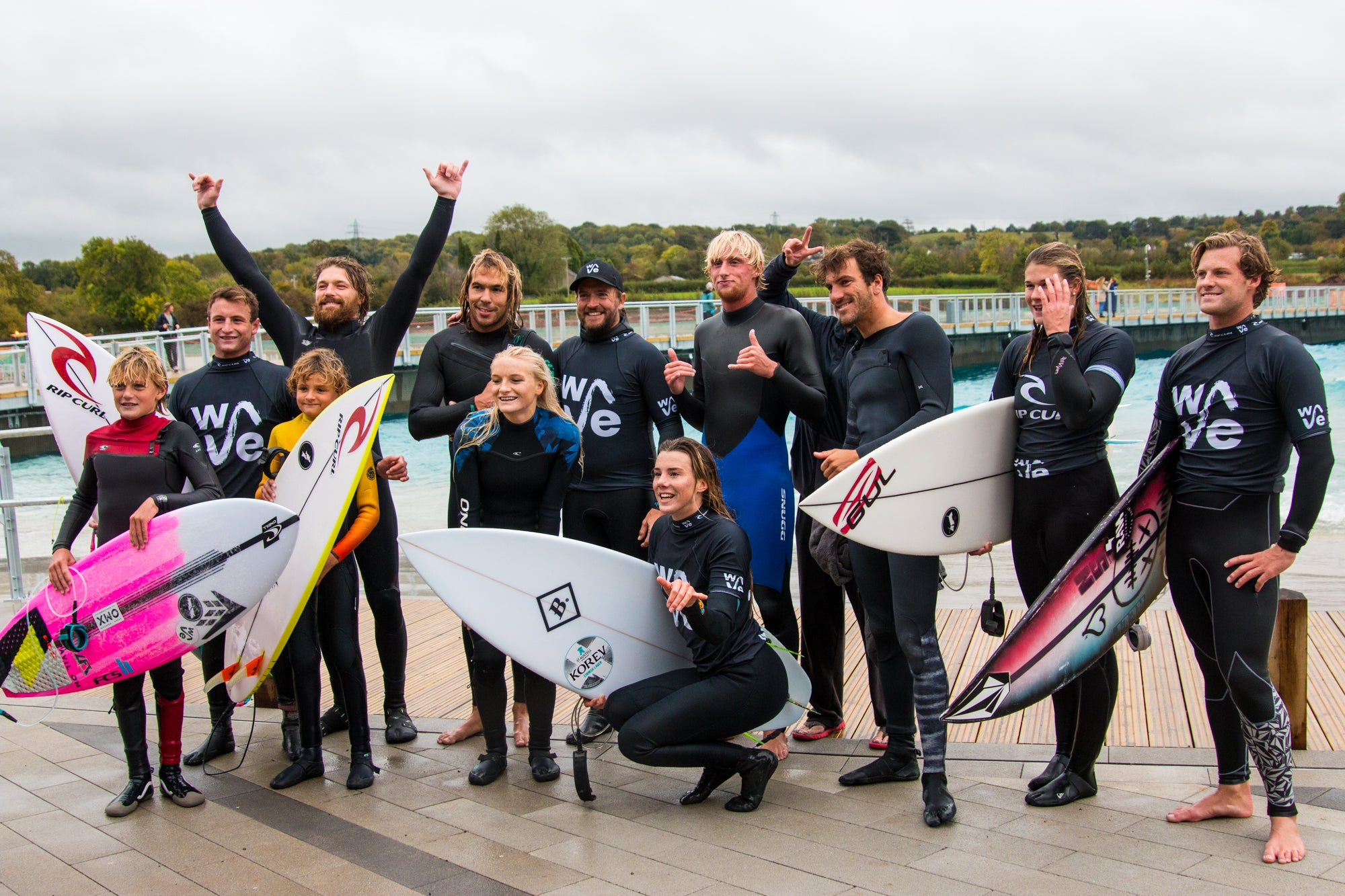 Pro Surfers at the Launch of The Wave Bristol