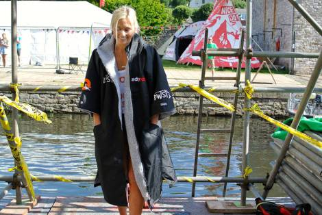 Sierra Blair Coyle - climb deep water solo | dryrobe | UK Exeter