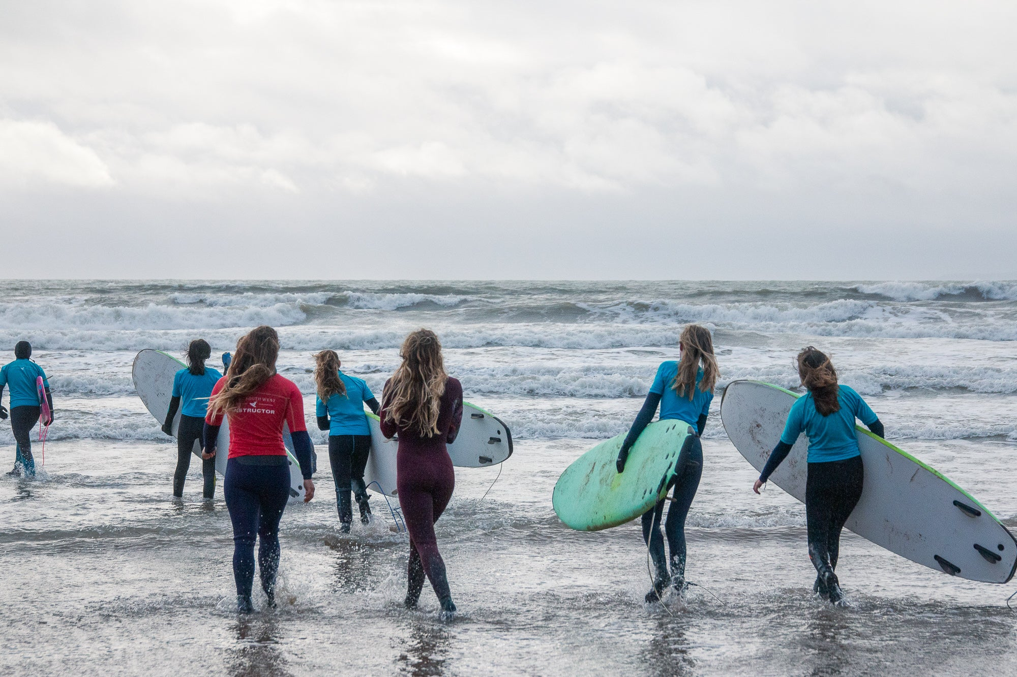 Wave Wahines & pro surfer Lucy Campbell in Croyde