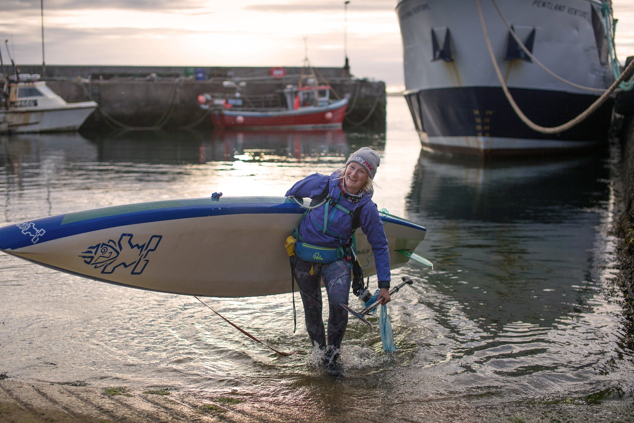 Cal Major completes Land's End to John O'Groats SUP