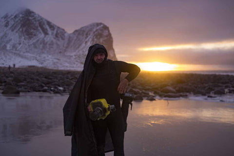 Tom, Carroll, Surf, dryrobe, Unstad, Norway