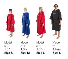 Towel dryrobe Size Guide