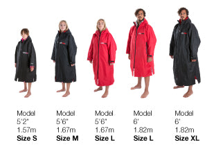 dryrobe Long Sleeve Size Guide
