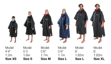 dryrobe Short Sleeve Size Guide