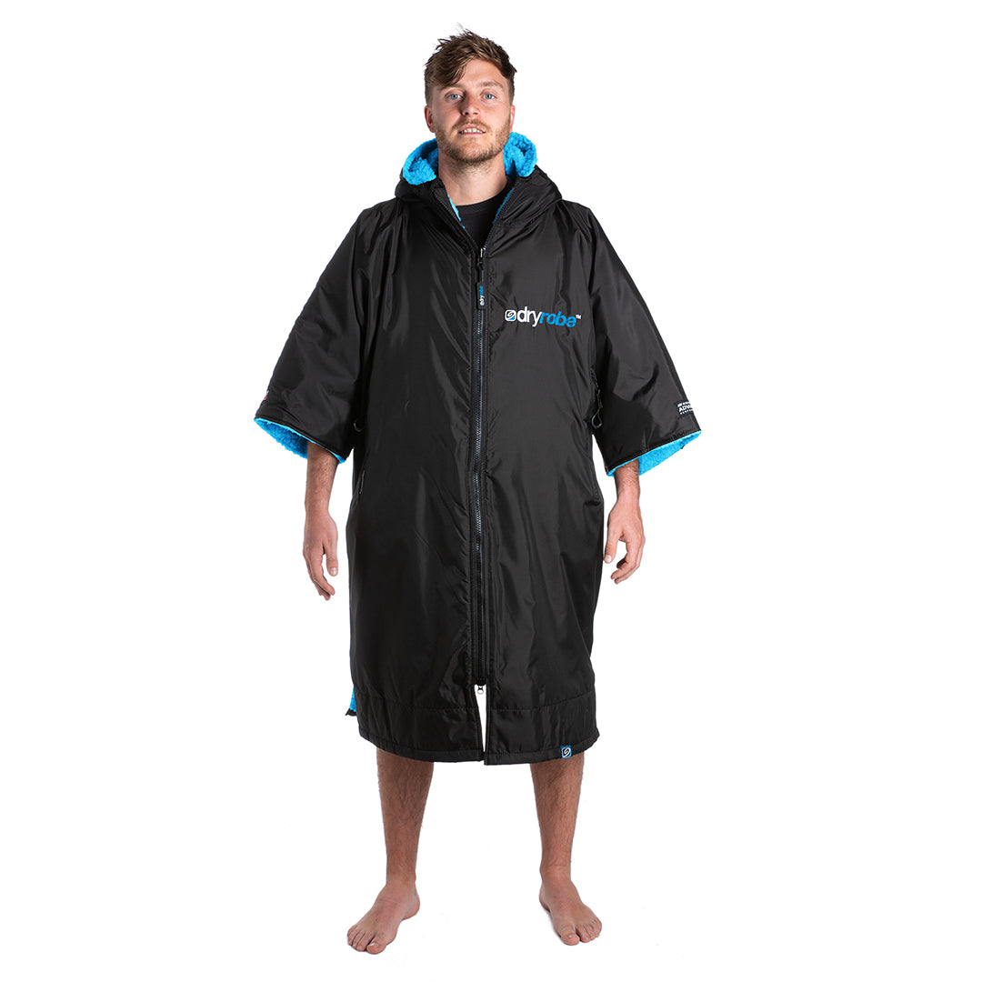 1|M, dryrobe Advance Short Sleeve Medium Black Blue Front Male