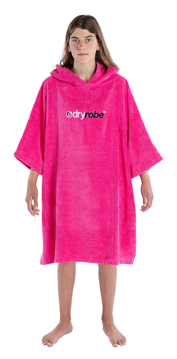 1|S, Kids Organic Cotton Towel dryrobe Pink Front