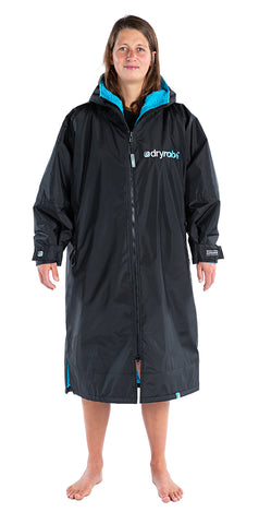 1|S, dryrobe Advance Long Sleeve Small Black Blue Front View