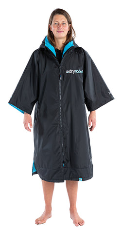 1|S, dryrobe Advance Short Sleeve Small Black Blue Front Female