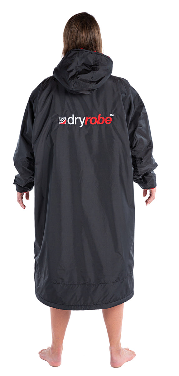 S, dryrobe Advance Long Sleeve Small Black Red Back