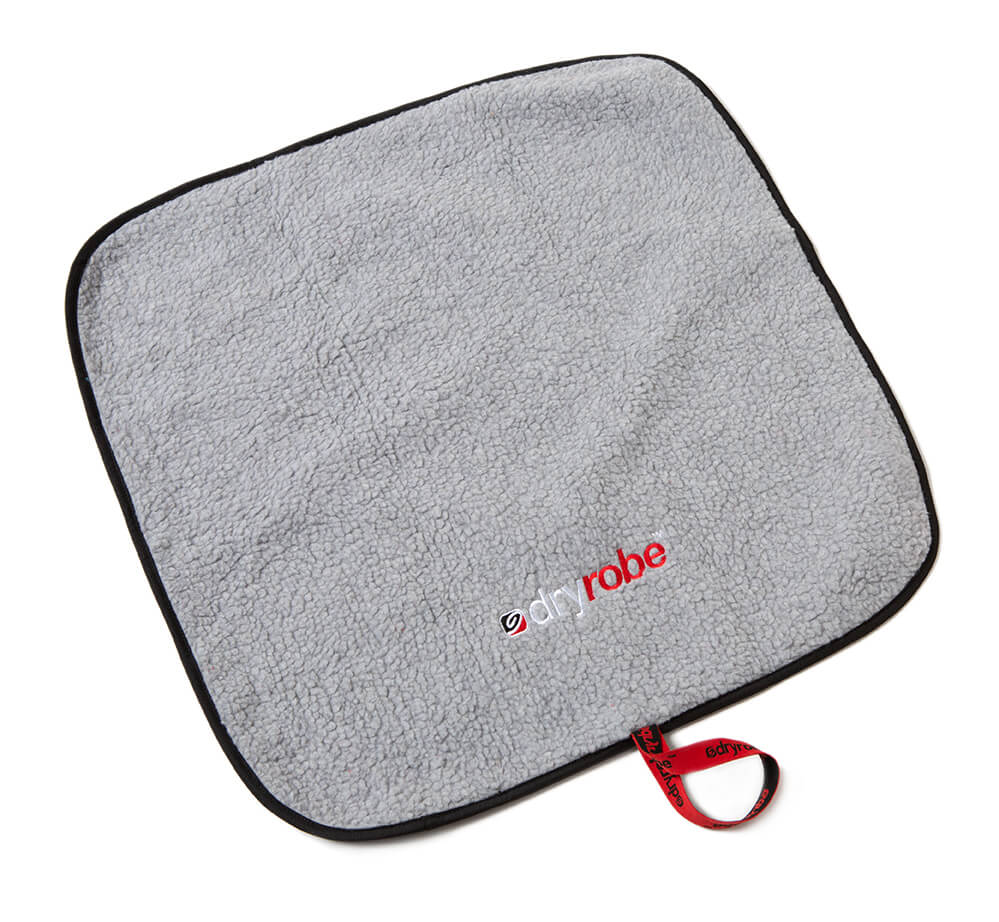 dryrobe Changing Mat Black Grey Lambswool lining