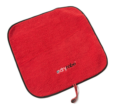dryrobe Changing Mat Black & Red with Lamb's wool lining
