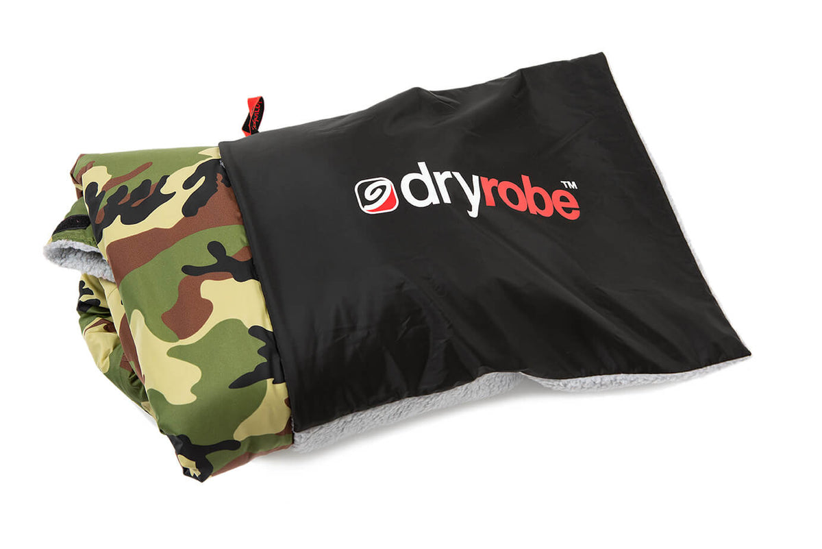 dryrobe Cushion Cover Black Grey - store your dryrobe