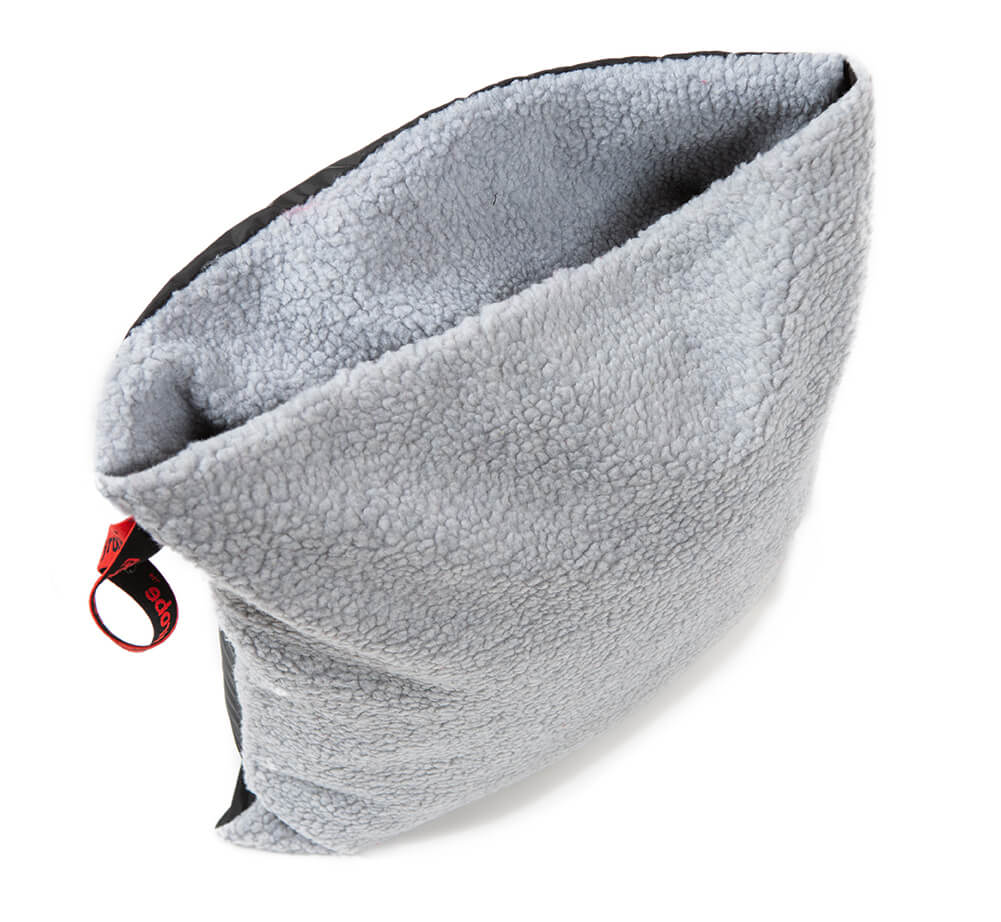 dryrobe Cushion Cover Black Grey dryrobe Cushion Cover Black Grey synthetic lambswool lining back