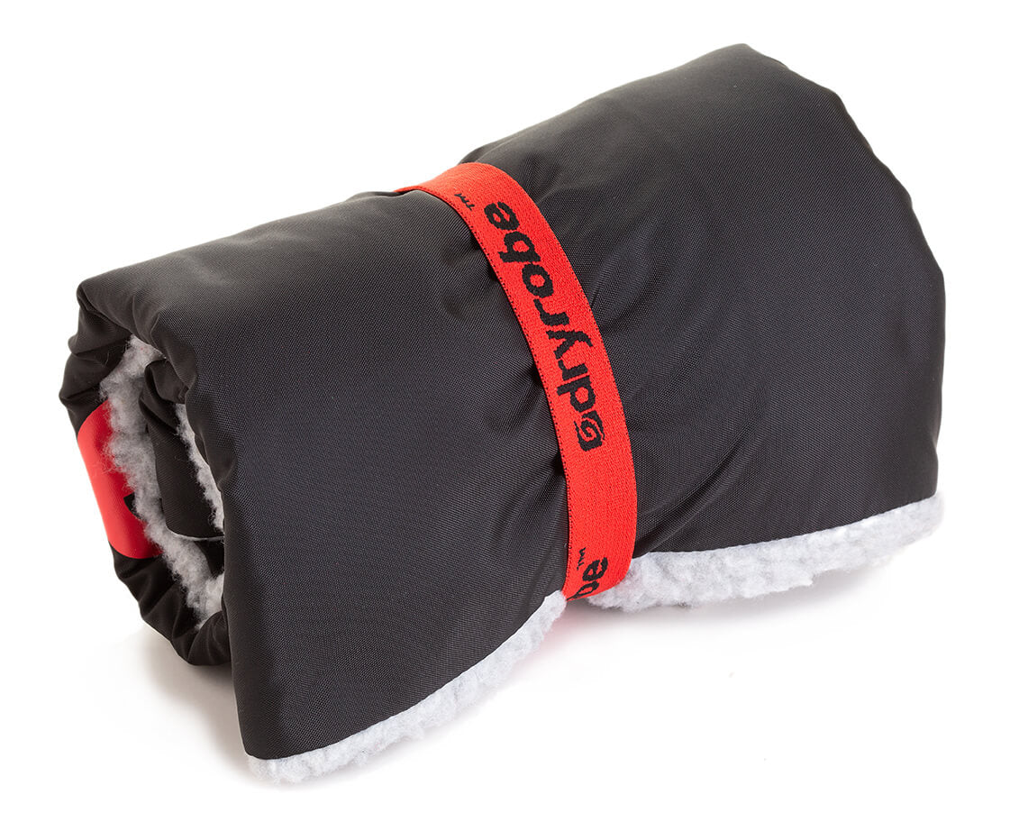 dryrobe Cushion Cover Black Grey packs away easily