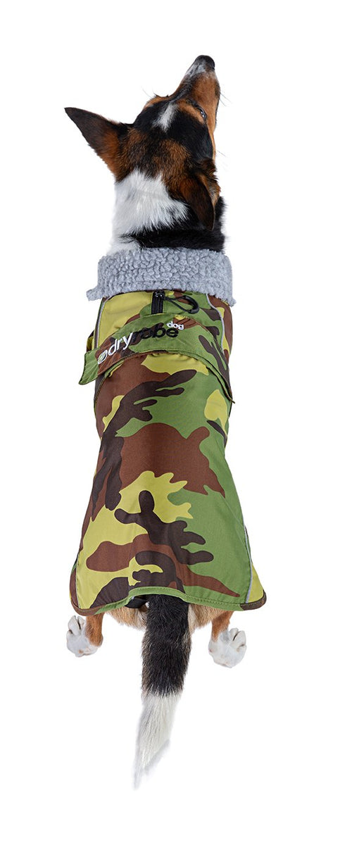 M, dryrobe Dog Camo Grey, front view