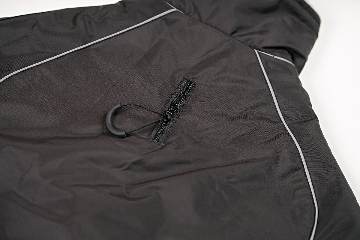 1|S,M,L,XL, Dog Robe Black Red Lead Zip