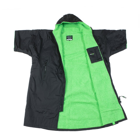 1|M,L,XL, dryrobe Advance Short Sleeve Black Green Open