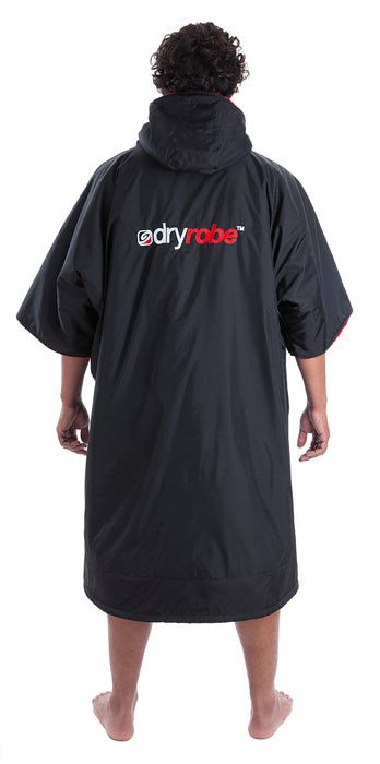 dryrobe Advance Short Sleeve Large Black Red Back