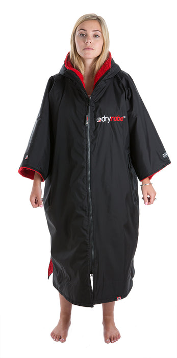 dryrobe Advance Short Sleeve Large Black Red Front Women