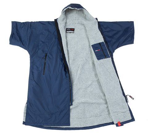 1|M,L, dryrobe Advance Short Sleeve Navy Grey Open