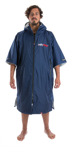 dryrobe Advance Short Sleeve Navy Grey