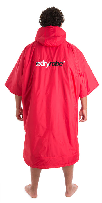 dryrobe Advance Short Sleeve Red Grey Back