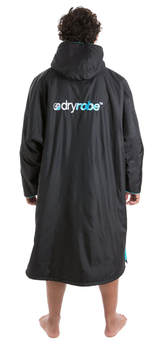 1|L, dryrobe Advance Long Sleeve Black Blue Back