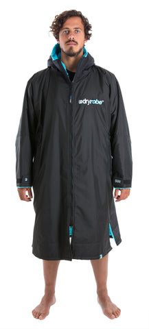 1|L, dryrobe Advance Long Sleeve Large Black Blue