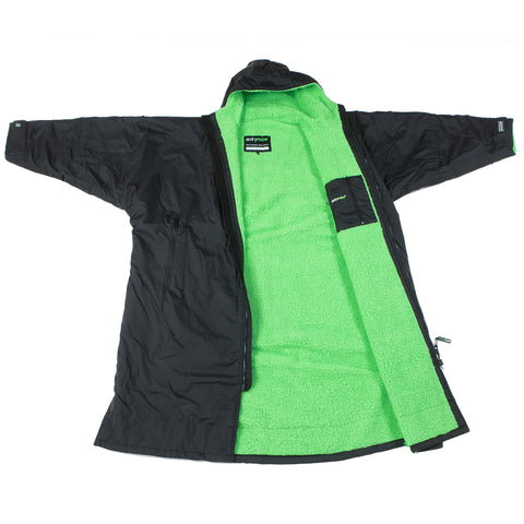 1|S,M,L,XL, dryrobe Advance Long Sleeve Large Black Green Open