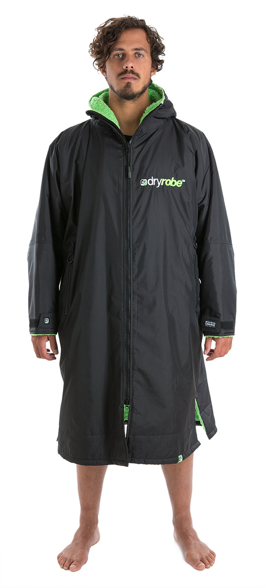 1|L, dryrobe Advance Long Sleeve Large Black Green