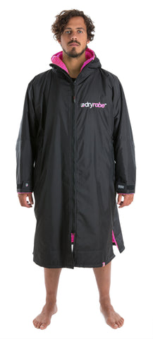 1|L, dryrobe Advance Long Sleeve Large Black Pink