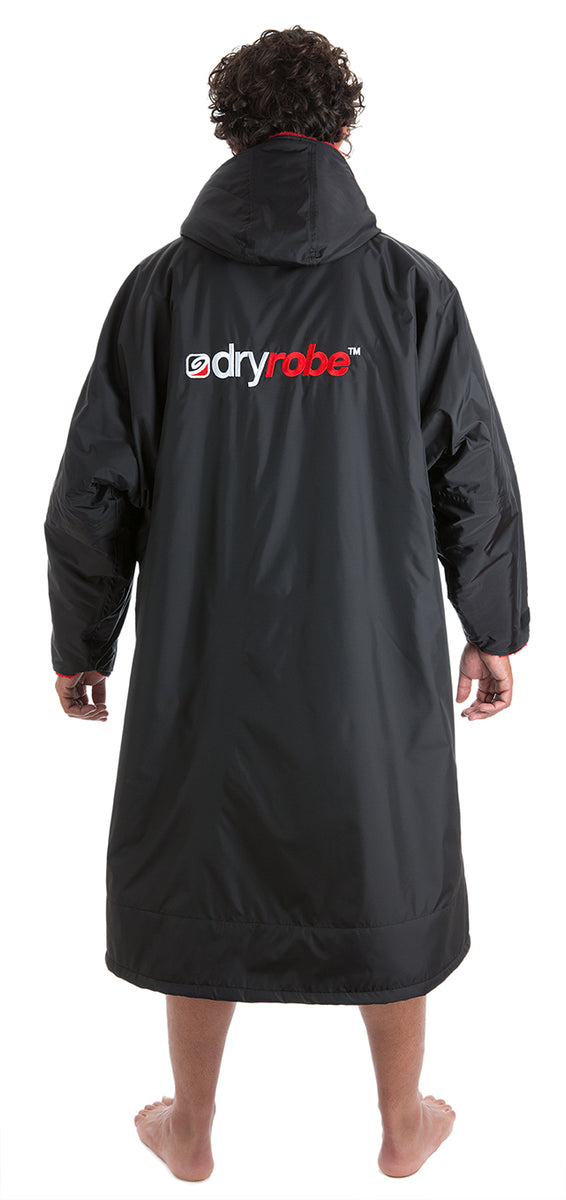 1|L, dryrobe Advance Long Sleeve Black Red Large Back