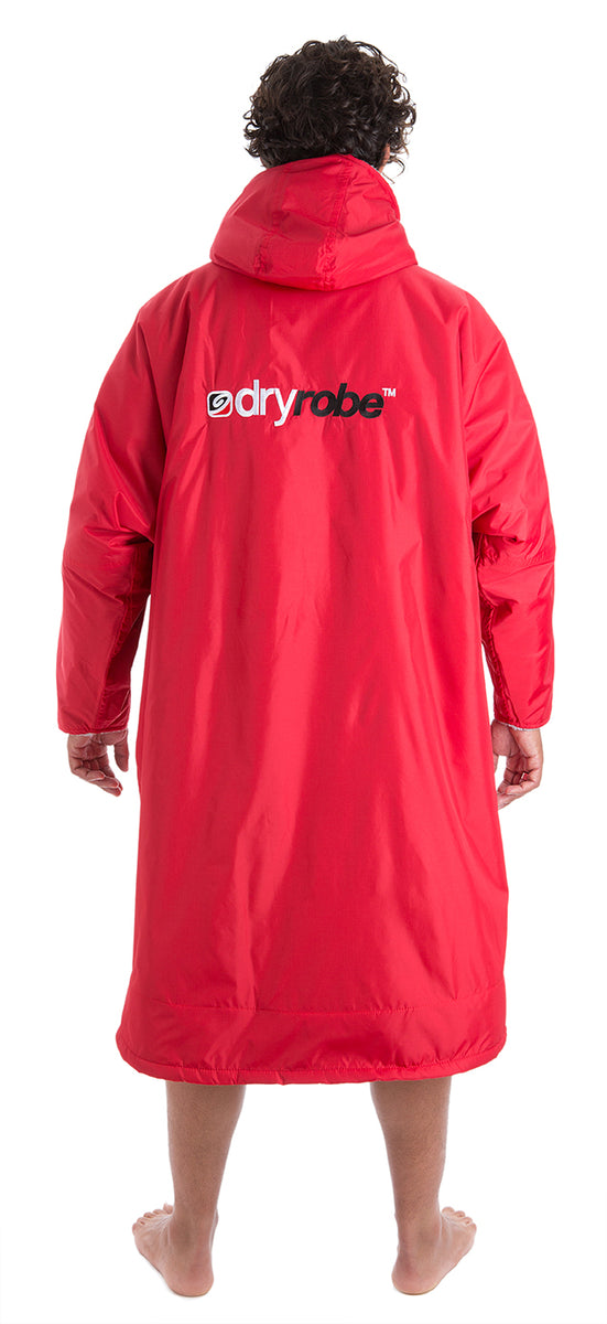 1|L, dryrobe Advance Long Sleeve Large Red Grey Back
