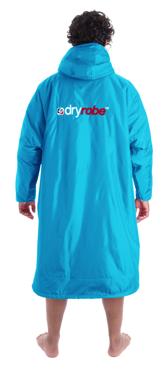 1|L, dryrobe Advance Long Sleeve Large Sky Blue Grey Back