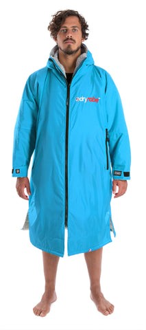 1|L, dryrobe Advance Long Sleeve Large Sky Blue Grey