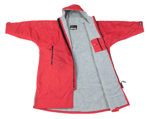 1|L, dryrobe Advance Long Sleeve Large Red Grey